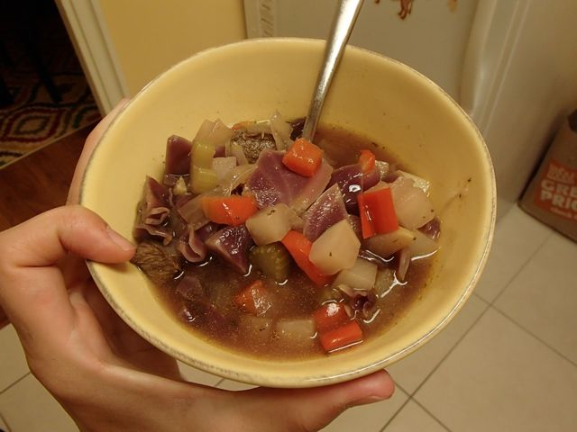 Autumnal beef soup 3